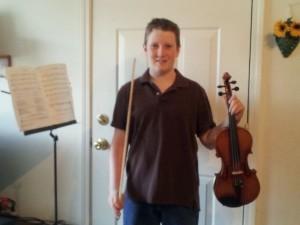 Charlie and his violin