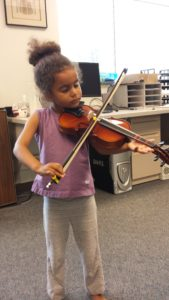 Eva loves her ChIRP violin!